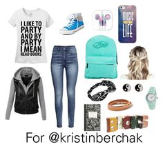 """""""For @kristinberchak, follow her!"""" by rla099274 ❤ liked on Polyvore featuring H&M, Converse, Vans, Casetify, Monsoon, American Eagle Outfitters, Clyda, J.Crew and Second Nature By Hand"""