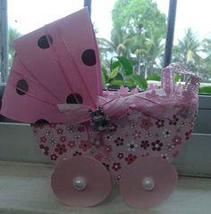 Carrinho de Bebê - scrap (Lembrancinha)