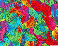 wild and crazy bright. Would be wonderful with black.