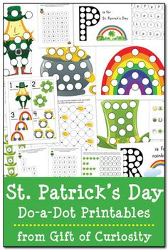St. Patrick's Day Do-a-Dot Printables - Gift of Curiosity