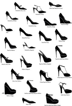 This is a really nice infographic on various types of heels. www.selfiesnation.com