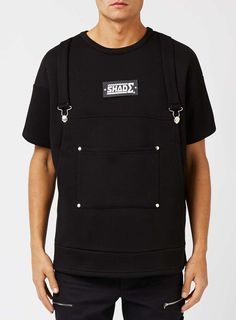SHADE Black Dungaree Short Sleeve Sweatshirt