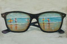 Sunglass Surfers by Brenda Gordon  #art #beach #sunglasses #summer