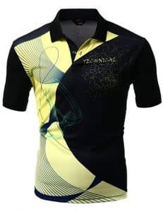 Xpril Men's Cool Max Fabric Sporty Design Printed Polo T-Shirt Polo T Shirts, Golf Shirts, Golf Outfit, Clothing Company, Active Wear, Print Design, Menswear, Sporty, How To Wear