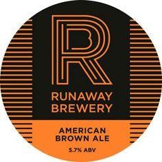 Runaway Brewery Pump Clip American Brown Ale Craft Ale, British Beer, Double Ipa, Beer Coasters, Beer Brands, Running Away, Chicago Cubs Logo, Brewery, Pump