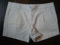 NEW J. Crew Womens City Fit Stretch Shorts sz 6 Cream Corduroy NWT #JCrew #MiniShortShorts