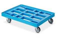 Transportroller 810 mm x 610 mm licht blauw (Gratis Verzending)