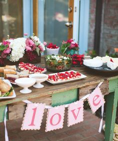 cute ideas for strawberry themed bridal shower
