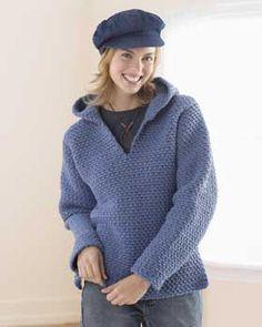 Crochet Hooded Sweater - http://www.favecrafts.com/Crochet-Sweaters/Hooded-Sweater-Crochet-Pattern#
