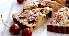 Maffig mandelkaka med körsbär och brynt smör. Servera denna goda körsbärskaka…