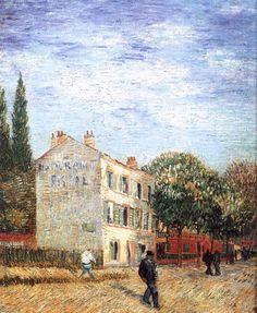dappledwithshadow:  Vincent van GoghThe Rispal Restaurant at AsnièresSummer 1887, ParisOil on canvas, 72 x 60 cmPrivate collection