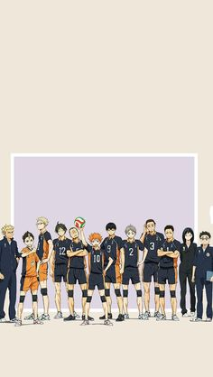 Karasuno!! ≥﹏≤ All my babies in one picture!!! I don't think my heart can take this much feeels, tho i mean it took all the FT ones so i should be fine...i hope