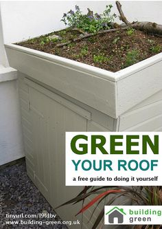 Green your roof. How to DIY your own shed green roof. A guide from Brighton and Hove Building Green. Garage Roof, Shed Roof, House Roof, Roofing Options, Roofing Materials, Pergola With Roof, Patio Roof, Pergola Kits, Pergola Ideas