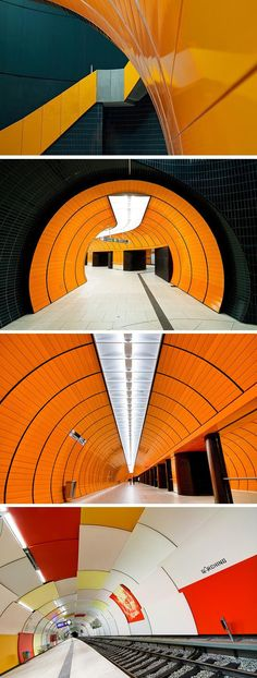 Munich U-Bahn, Marienplatz and Garching stations