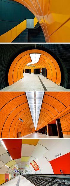 Munich U-Bahn, Marienplatz and Garching stations