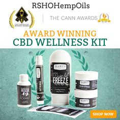 The amazing Award Winning CBD Wellness Kit includes 1 CBD Patch, 1 CBD Gel Pen, the CBD Compound, CBD Capsules, Mary's Rescue and the CBD Muscle Freeze.  Buy it now at: http://rshohempoils.com/collections/marys-nutritionals/products/award-winning-cbd-wellness-kit-5-off #MarysNutritionals #RSHO #RSHOHempOils #CBD #HempOil