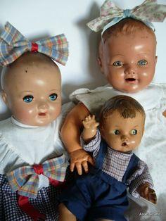 Ana Caldatto : Antigas Bonecas Bebês de Massa Inquebravel e Massa Plástica