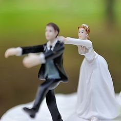 """""""Don't Try to Break Away From Me"""" Resin Figurine Wedding Cake Topper – USD $ 17.99"""