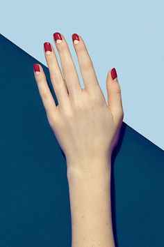 "This throwback style is still chic: ""The negative space as the moon feels sexy and fresh because it lets your natural nail peek through—the exact same way it was done decades ago,"" explains Kandalec.  WHY YOU'LL LOVE IT: ""It's for the woman who wants the power and confidence that fire-engine red nails portray, but also wants to show style and individuality through having a surprising element of the negative space,"" says Kandalec. Think: classic, graphic and statement-making. ""It adds flare…"