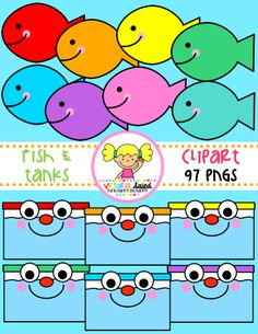 Fish & Tanks Clipart for Teachers