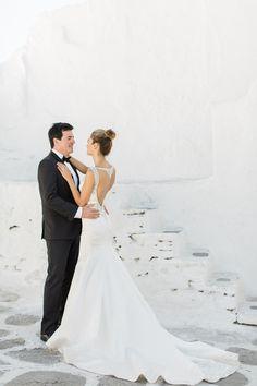 Photography : Anna Roussos - Photographer Read More on SMP: http://www.stylemepretty.com/2016/07/22/mykonos-island-greece-destination-wedding/