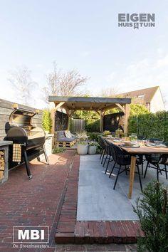 Backyard, Patio, Terrace, Brick, Porch, Outdoor Decor, Home Decor, Garden Ideas, House Ideas