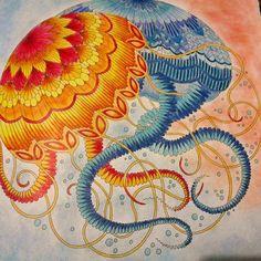 First page is done #milliemarotta #tropicalwonderland #встранечудес #раскраскидлявзрослых #adultcoloringbook