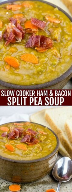 Fix it and forget it is the way to go with this Slow Cooker Ham and Bacon Split Pea soup! Warm, cozy and delicious for those chilly days. So since fall is right around the horizon and soup is something that I feel is a staple any time of the[Read more]