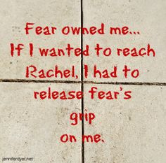 I had to overcome my anxieties before I could help Rachel. #autism #moms