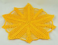 Shell Net Star Doily ~ free pattern ᛡ
