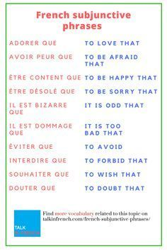 french subjunctive conjugation