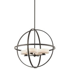 Olsay Olde Bronze Four-Light Pendant for the dining room