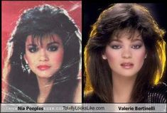Nia Peeples and Valerie Bertinelli.even the same hairstyle. 1970 Hairstyles, Filipino Models, Nia Peeples, Historical Women, Historical Photos, Valerie Bertinelli, Viking Woman, Hair Styles 2016, Celebrity Look