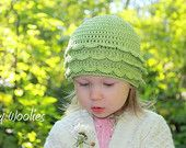 Crochet Pattern Raspberry Beret with Flower by whimsywoolies