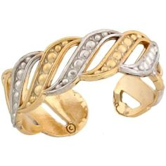 10k Two Toned Real Gold Midevil Rope Designer Ladies Toe Ring Jewelry Liquidation. $104.75. Made with Real 10k Gold!. Made in USA!