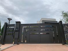 [053] 청주 블루체어 금속 대문 / 자동문 : 네이버 블로그 Door Gate Design, Doors, Gate