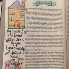 #Haggai1 #biblejournaling #biblejournalingcommunity Bible 2, Bible Verse Art, Letter Art, Letters, High Priest, Illustrated Faith, Bible Journal, Gods Love, Prayers