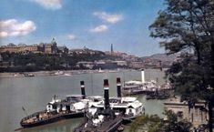 View of traffic along the Danube, with the Royal Castle in background, Budapest, Hungary, Hans Hildenbrand Danzig, Old Pictures, Old Photos, Hut Images, Capital Of Hungary, National Geographic Society, Places In Europe, Budapest Hungary, Baltic Sea
