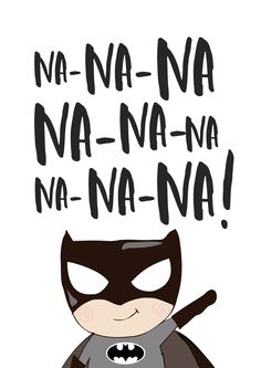 Boys Superhero Nursery Bedroom Wall Art Print - Na! Na! Na! Na! Print - The Kids Print Store
