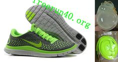 Mens Nike Free 3.0 V4 Dark Grey Electric Green Wolf Grey Shoes
