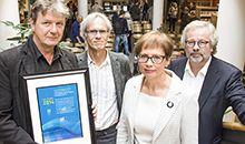 FOU-prisen 2014 ved Høgskulen i Volda  Erling Sivertsen, Paul Bjerke, Marie Nedregotten Sørbø, Rolf Werenskjold