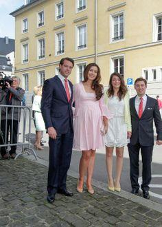 wort.lu:  First Communion of Prince Gabriel of Luxembourg, May 23, 2014-Prince Felix, Princess Clair, Princess Alexandra, Prince Sébastien