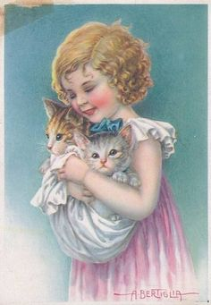 Vintage postcard (by A. Bertiglia)