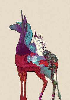 The Last Unicorn.... And the red bull chased them all into the sea....