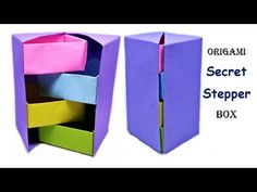 How to make Origami - Stepper Box | Chest of Drawers | Tower Box | Useful Origami | Craftastic - YouTube