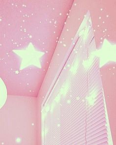 stars, pink, and room afbeelding