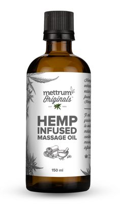 Hemp seed oil is known to enhance the therapeutic value of the essential oils found in Mettrum Originals™ Hemp Infused Massage Oil. Patchouli Oil, Geranium Oil, Frankincense Oil, Sunflower Oil, Hemp Seeds, Massage Oil, Hemp Oil, Whiskey Bottle, Originals