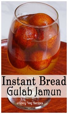 Delicious gulab jamuns prepared with bread.