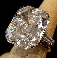 The Krupp diamond ring, Richard Burton bought Elizabeth Taylor this 33.19 carat emerald cut diamond ring in 1968 for 300K...now worth over 3M.