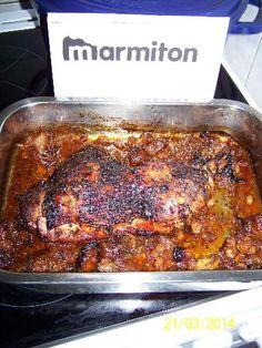 sauce soja, moutarde, poivre, huile d'olive, cuisse de dinde, ail, sel, herbes de provence, miel